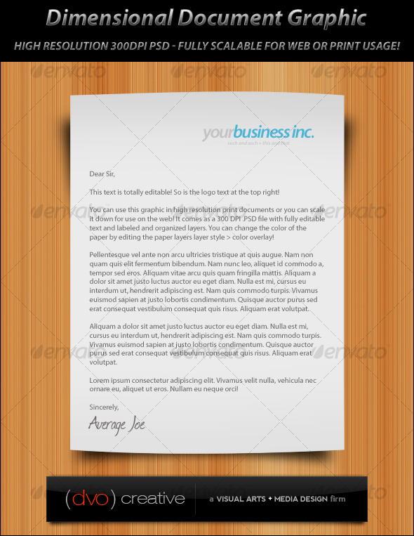 GraphicRiver Dimensional Document Graphic Print & Web 114332
