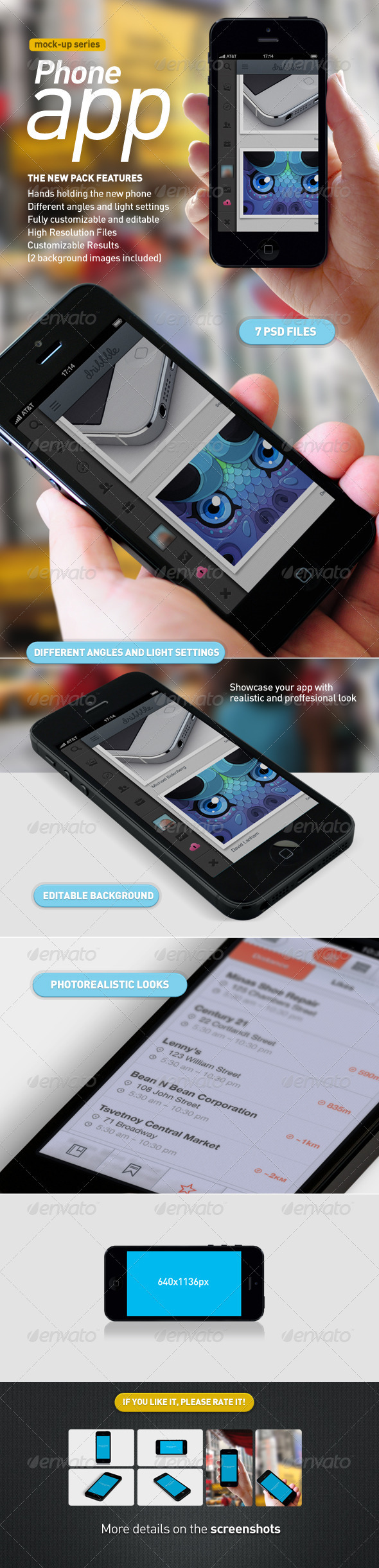 GraphicRiver Phone with Hand Mobile App Mock-Up 3246611