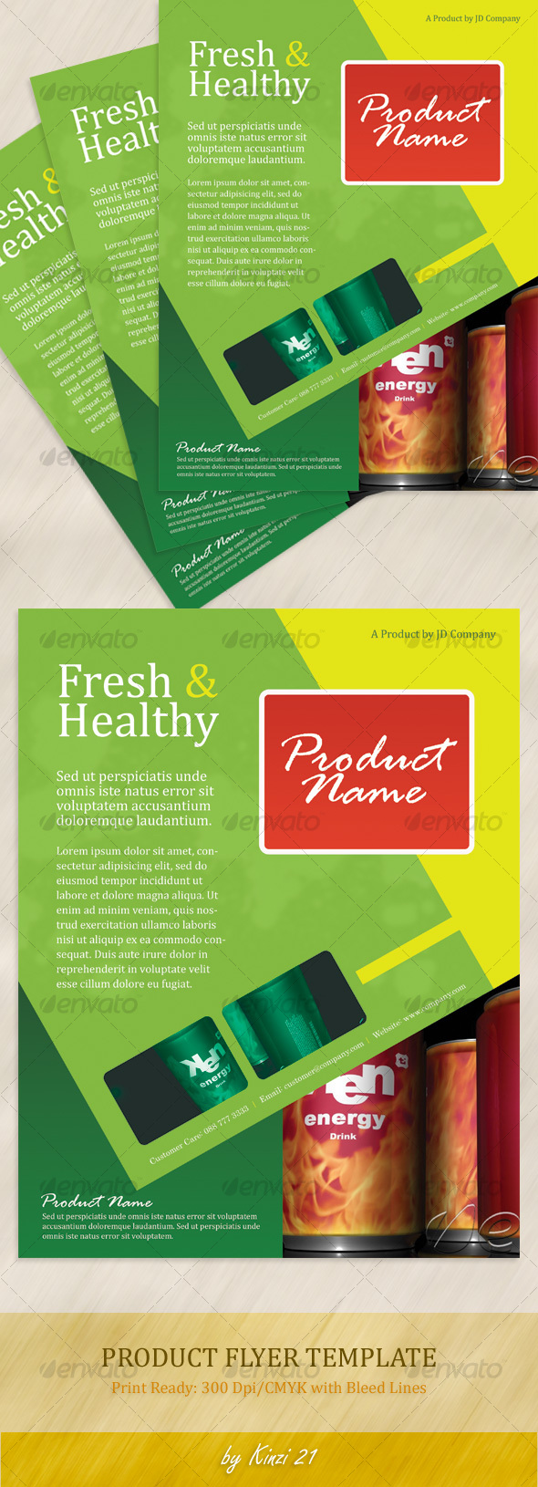GraphicRiver Product Flyer Template 114556