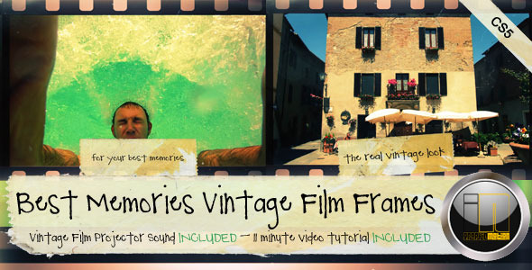 After Effects Project - VideoHive Best Memories Vintage Film Frames 336903