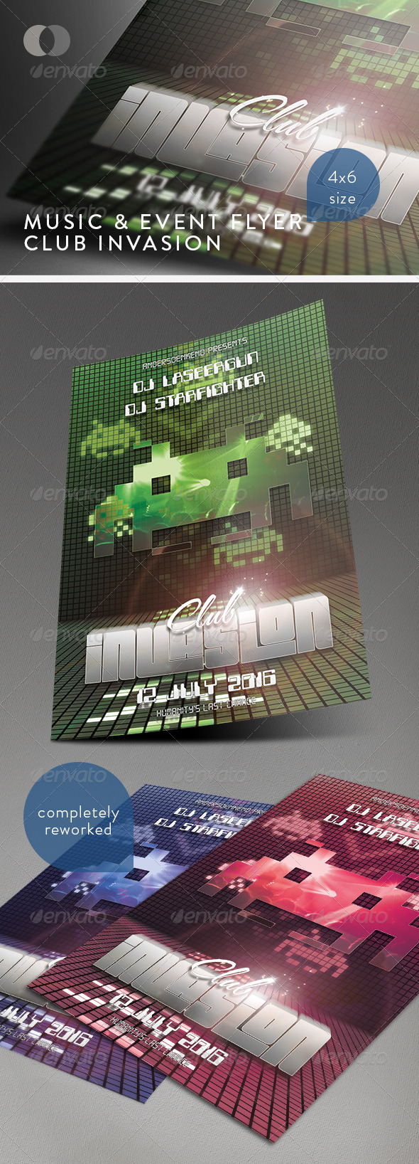 GraphicRiver Music & Event Flyer Club Invasion 234048