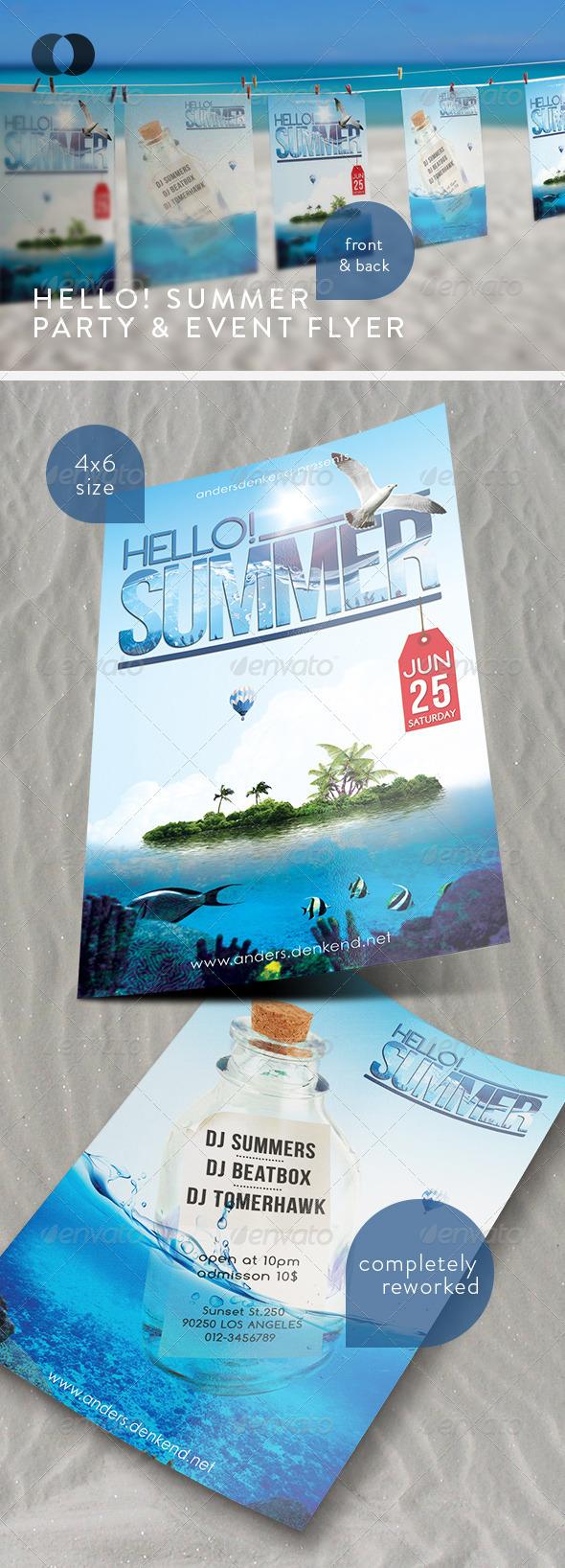 GraphicRiver Music & Event Flyer Hello Summer 263139