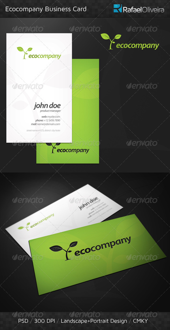 GraphicRiver Ecocompany Business Card 337031