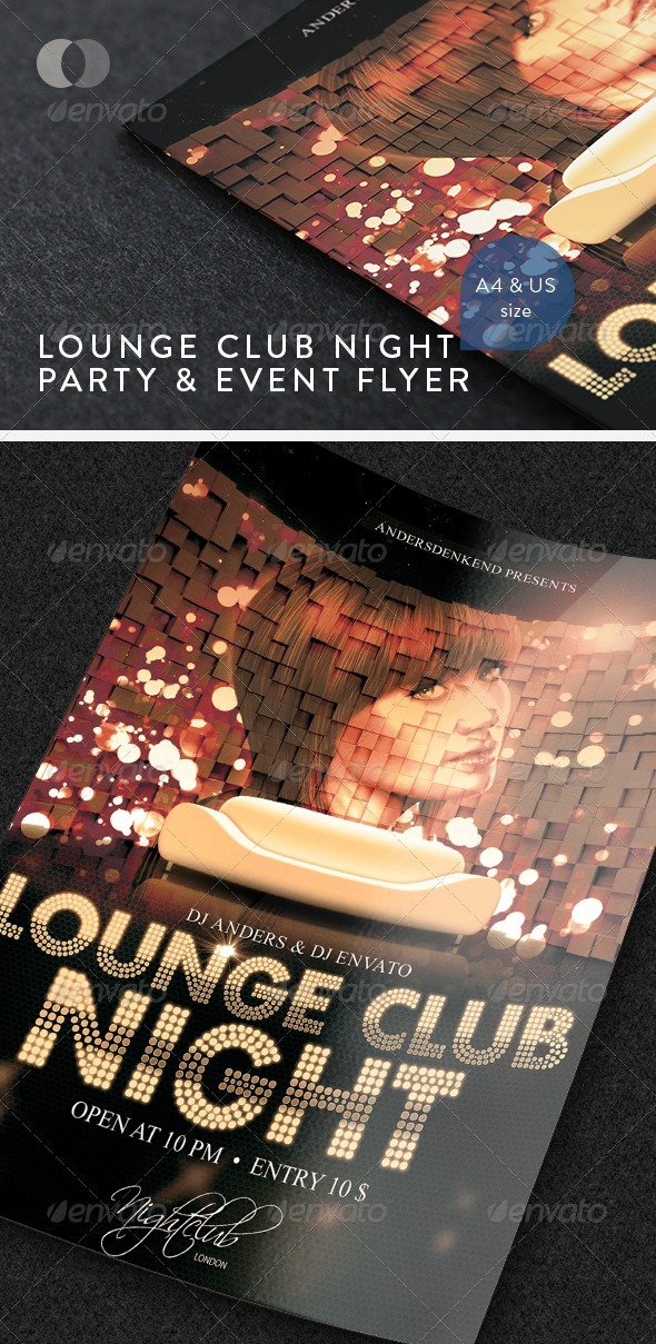 GraphicRiver Music & Event Flyer Lounge Club Night 2025186