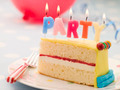 Party Candles on a Slice of Birthday Cake - PhotoDune Item for Sale