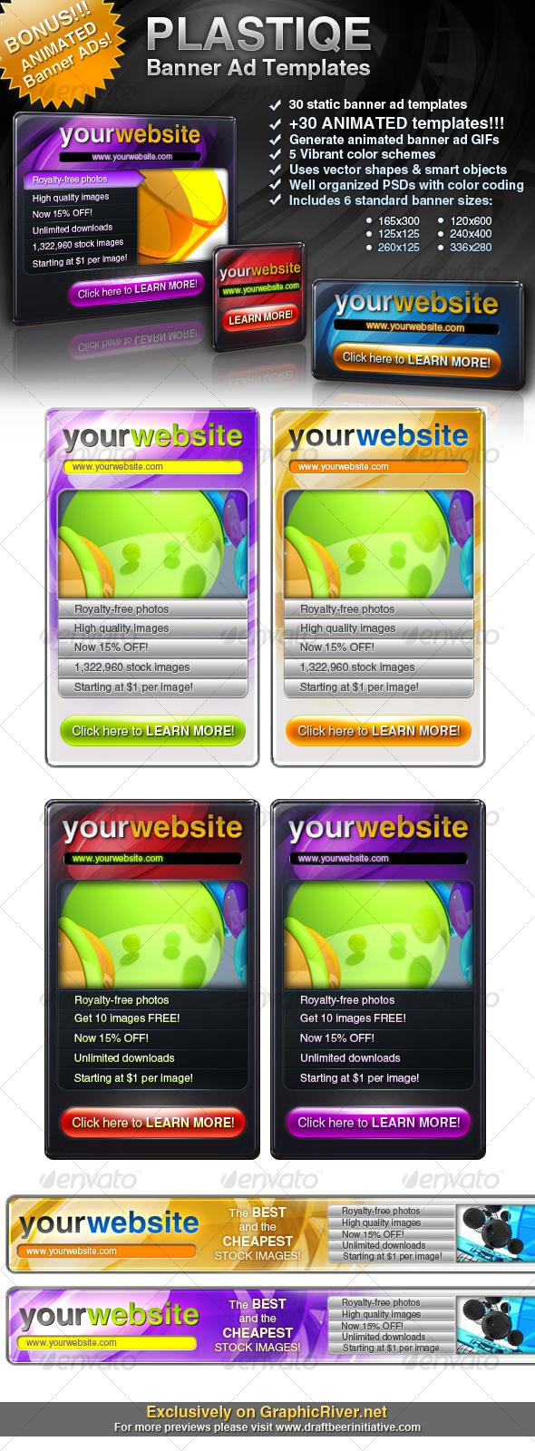 GraphicRiver Plastique Banner Ad Templates &Bonus 110432