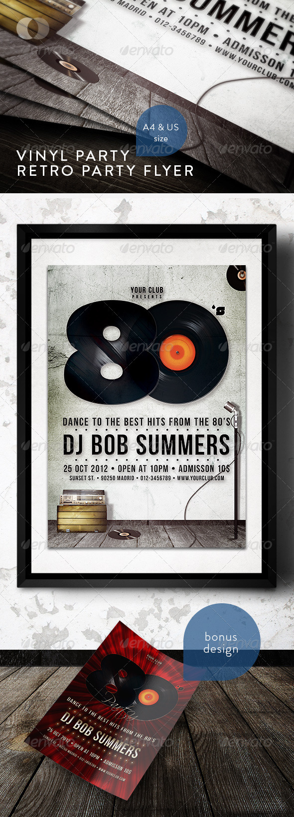 GraphicRiver Music & Event Flyer Vinyl Party 158613