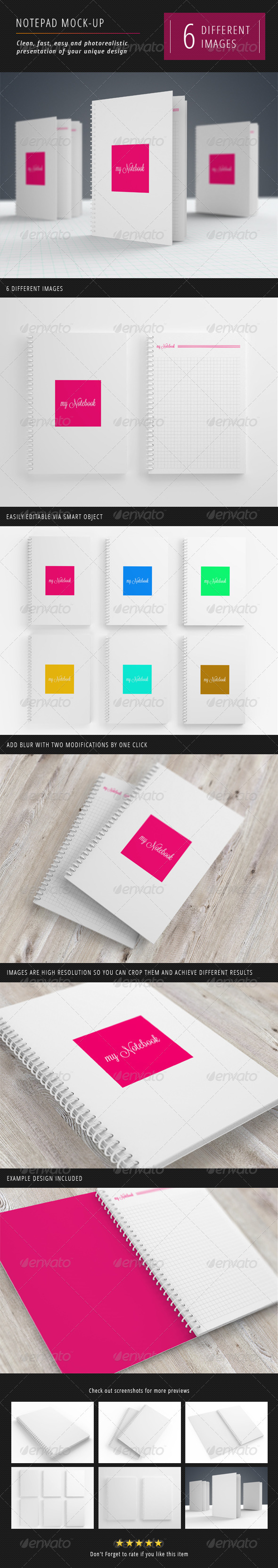 GraphicRiver Notebook Mock-Up 3260729