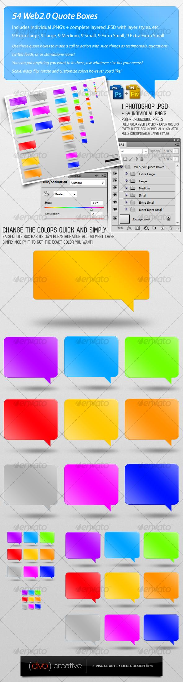 GraphicRiver 54 Web 2.0 Quote Testimonial Boxes 114865