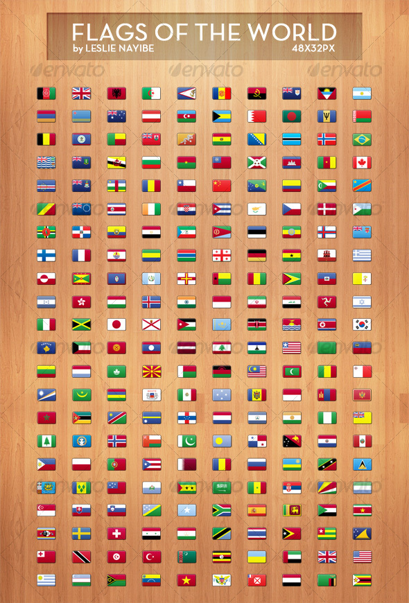 GraphicRiver Flags of The World 114913