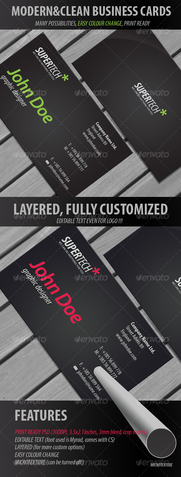GraphicRiver Black Business cards 2 113598