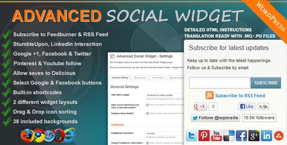 CodeCanyon Advanced Social Widget 1189066