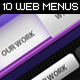 10 Clean Web Navigation Menus - GraphicRiver Item for Sale