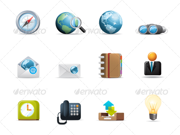 GraphicRiver Qicon series Web and Communication icons 2 114493