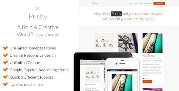 ThemeForest Pushy A Bold & Creative Marketing WP theme WordPress Corporate Marketing 3243859