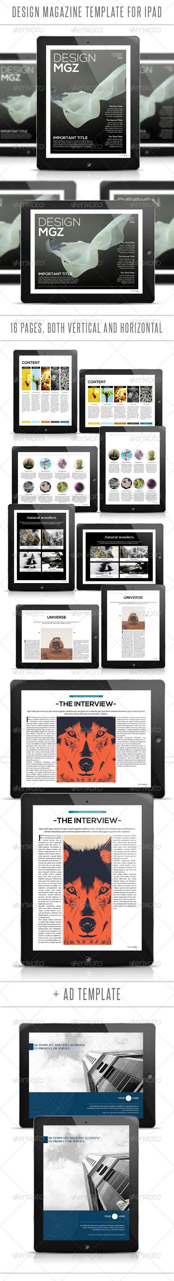 GraphicRiver Design Tablet Magazine Template 3267527