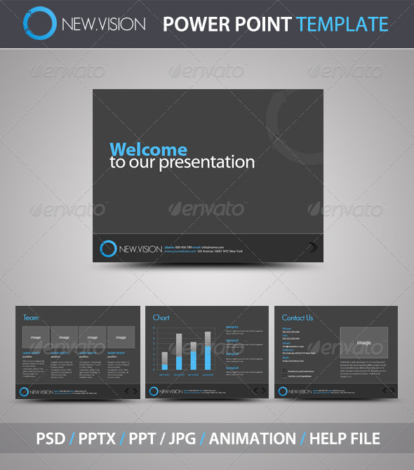 GraphicRiver NewVision PowerPoint Template 339451