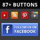 87+ Social Buttons - GraphicRiver Item for Sale