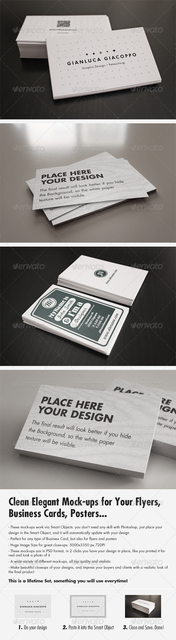 GraphicRiver Flyer Business Card Clean Realistic Mockups Set 2 3272026