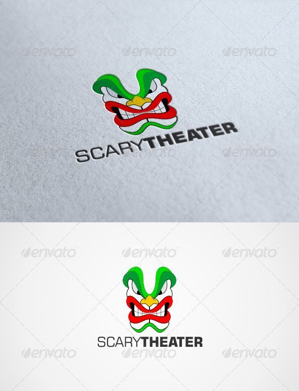 GraphicRiver Scary Theater Logo 3272823