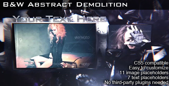 VideoHive B&W Abstract Demolition 3239575