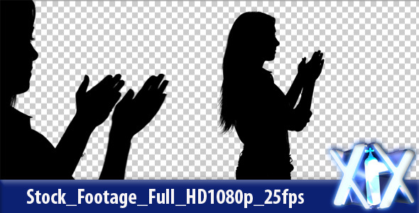 VideoHive Woman Clapping Silhouette 3273695