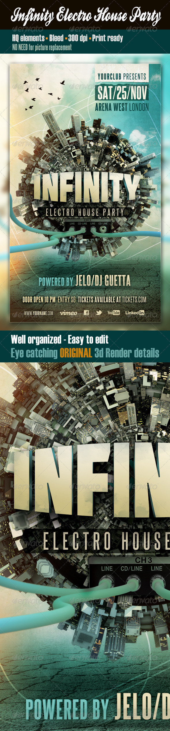 GraphicRiver Infinity Electro House Party 3275338