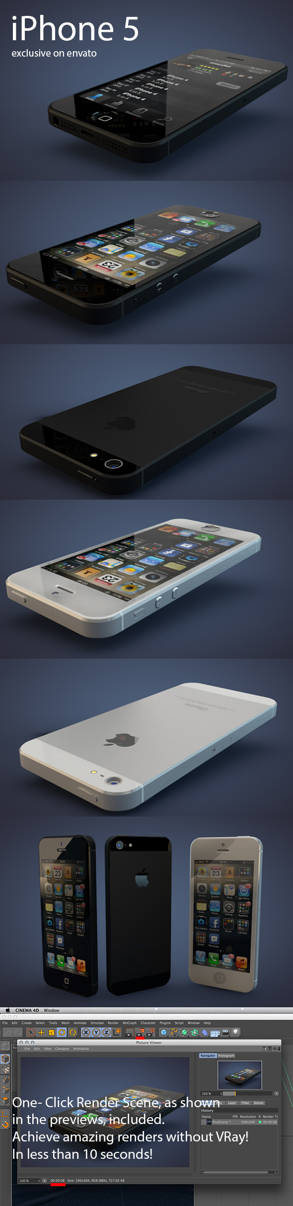 3DOcean iPhone 5 3028478
