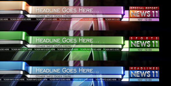 After Effects Project - VideoHive Broadcast Design News Lower Third Pack 2  ...