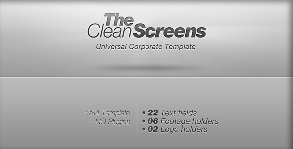 After Effects Project - VideoHive Clean Screens 115739