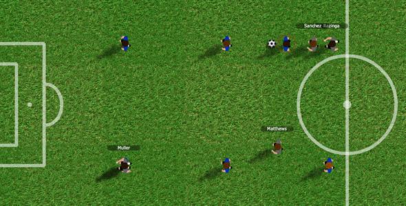 ActiveDen Flash 4-4-2 Street Football Soccer Game 3283495