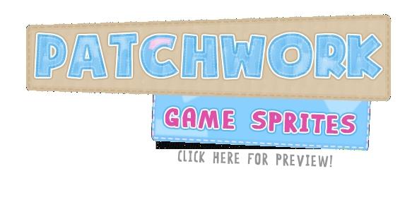 ActiveDen Patchwork Teddy Bear Platform Game Sprites 3284422