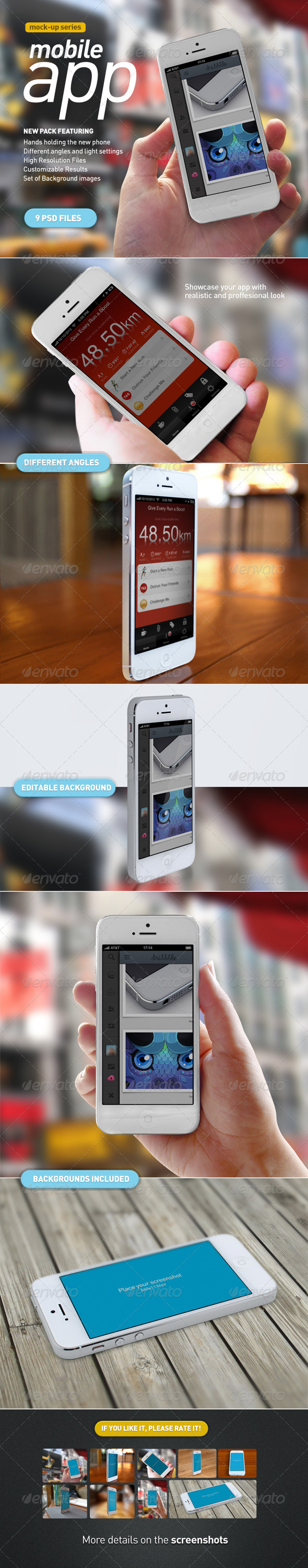 GraphicRiver Mobile App White Phone Mock-Up 3285641
