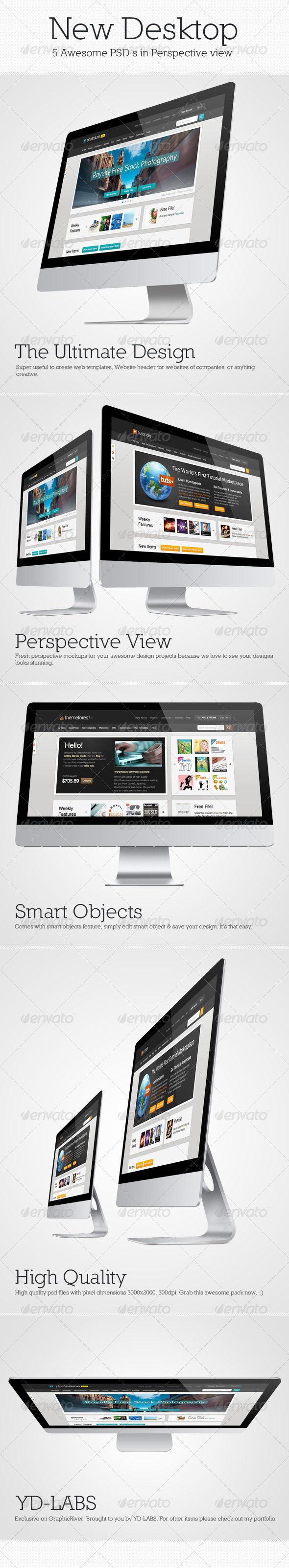 GraphicRiver New Desktop Mockup Pack 3288338
