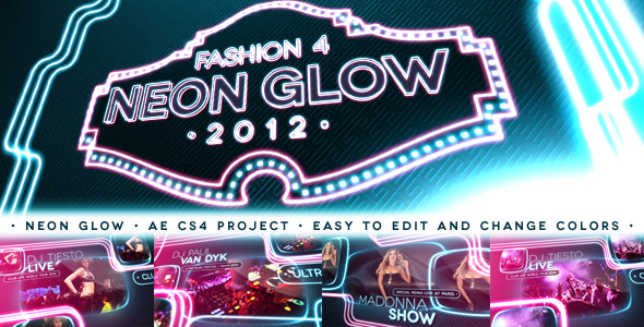 After Effects Project - VideoHive Fashion 4 Neon Glow 3288548