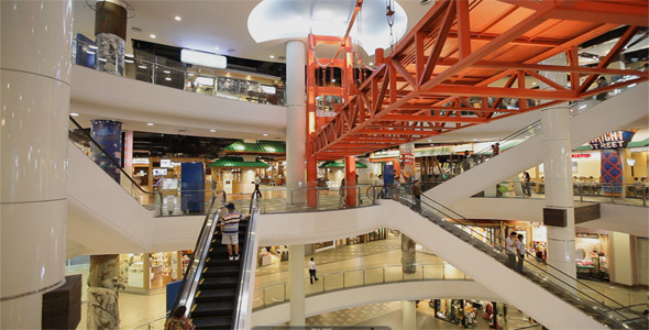 VideoHive People Enjoying Their Time At Shopping Mall 3290436