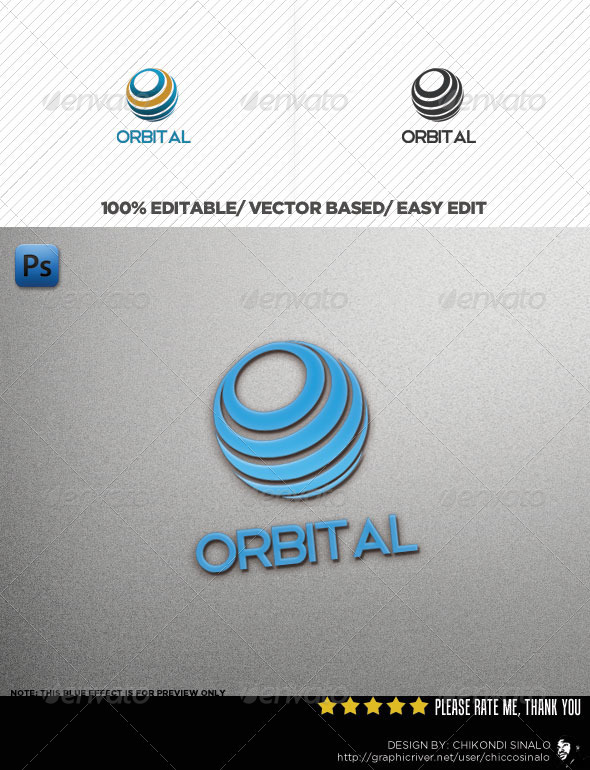 GraphicRiver Orbital Logo Template 3291094