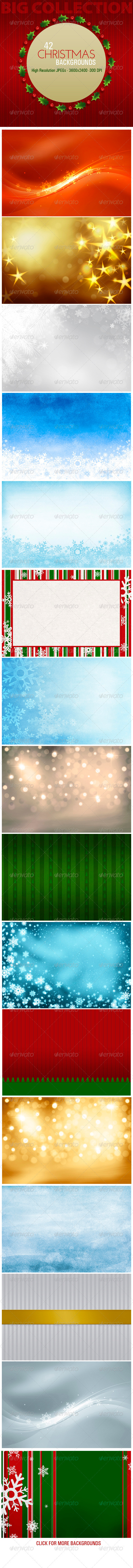 GraphicRiver 42 Christmas Backgrounds 3296257