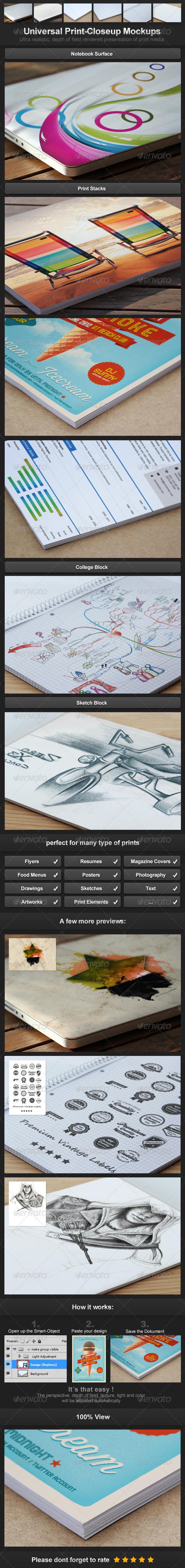 GraphicRiver Universal Print-Closeup Mockups 3296797