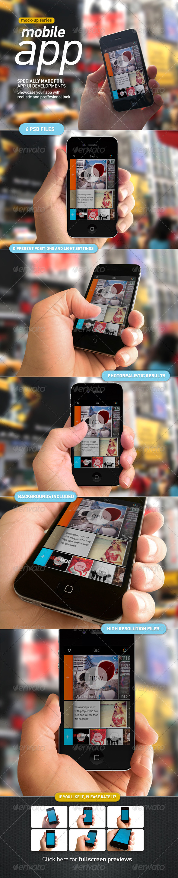 GraphicRiver Device Holding Mobile App UI Mock Up 3226380