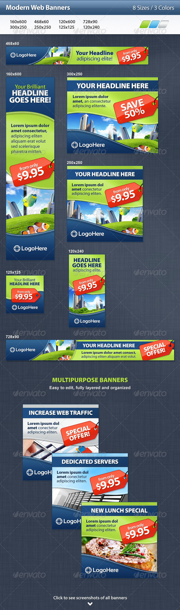 GraphicRiver Modern Web Banners 3297273