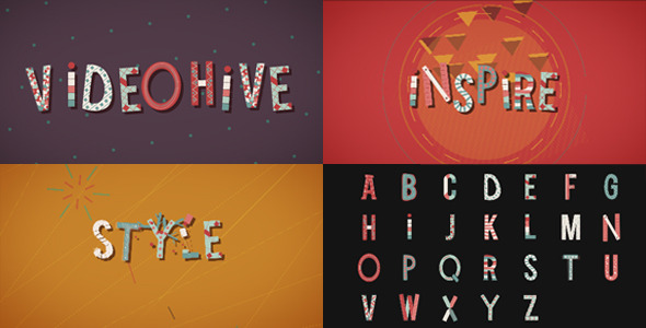 After Effects Project - VideoHive Wonder Letters 3297620