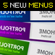 5 New Clean Web Menus - GraphicRiver Item for Sale