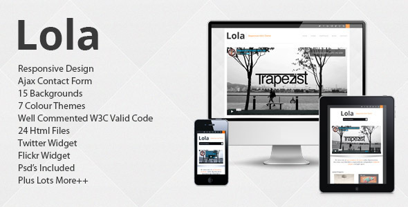 ThemeForest Lola Responsive Business Html Theme Site Templates Corporate Business 3223355