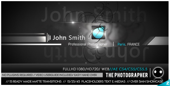 After Effects Project - VideoHive The Photographer 3303106