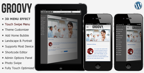 ThemeForest Groovy Premium Mobile Wordpress Template WordPress Mobile 3303155