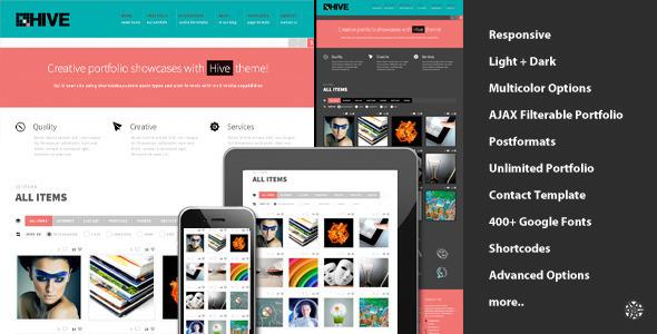 ThemeForest Hive Responsive Portfolio Theme WordPress Creative Portfolio 3303713