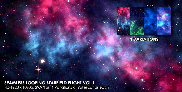 VideoHive Seamless Looping Starfield Flight Vol 1 3304715