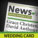Wedding Card Newspaper Style - GraphicRiver Item for Sale