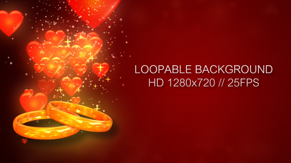 VideoHive Wedding Rings With Hearts 3315231